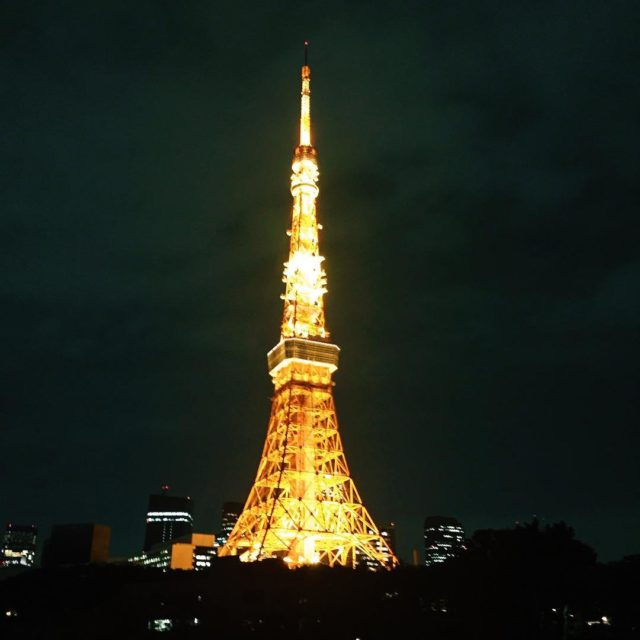 An amazing view of the tokyotower Tokyos ode to thehellip