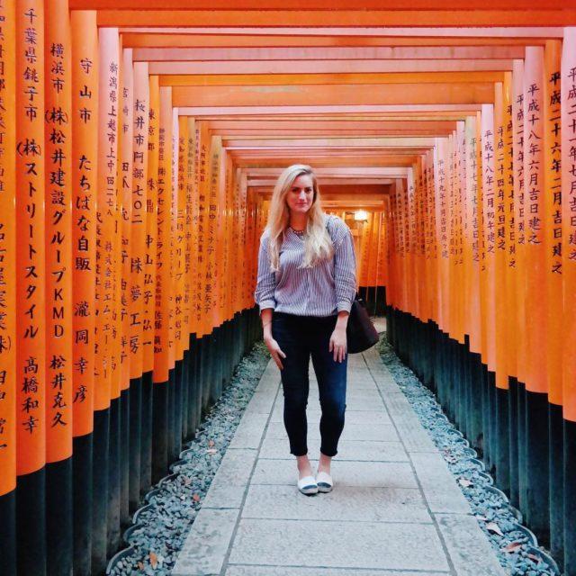 Posing in Kyoto