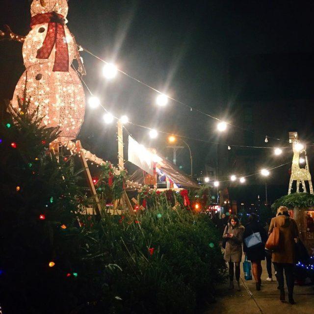 City sidewalks busy sidewalks dressed in holiday style In thehellip