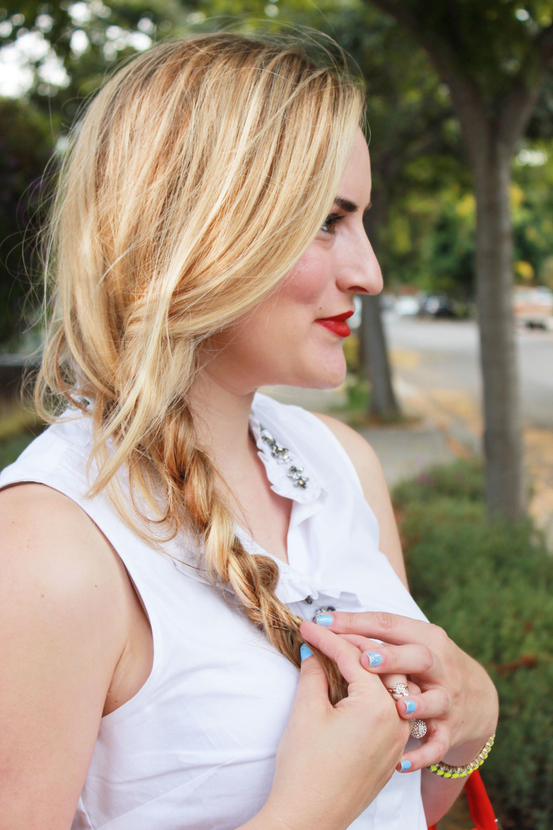 easy side braid tutorial