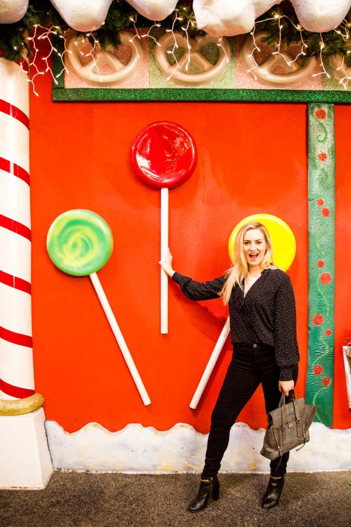 Snow at the Grove in Los Angeles | My Stiletto Life The Grove Los Angeles Snow on the grove madewell, the grove mall, the grove santa, the grove in la, the grove of anaheim,